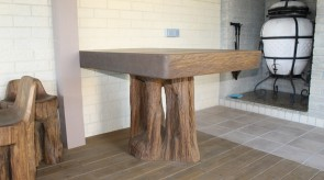 12. Table. Oak. 75 x 150 x 80.