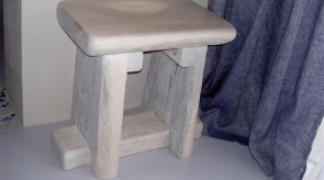 26. Small chair. Whitened elm. h 45.