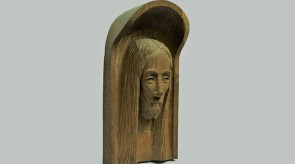74. Christ's head. Oak. 36 x 19.