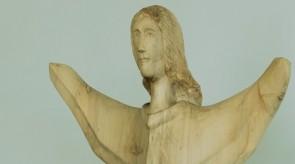 2. Kylantis angelas. Tuopa. h 120 +56.5 cm ( pjedestalas ).