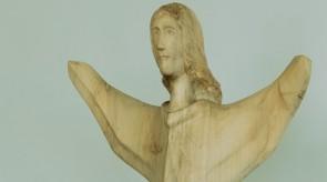 2. Rising angel. Poplar. h 120+56.5 cm ( pedestal ).
