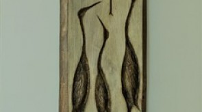 54. Dance of cranes. Elm. 270 x 35.