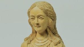 70.  Maloningoji Mergelė Marija. Fragmentas.