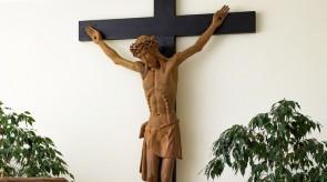 17. Crucifix. Alter in a chapel. Oak. h 300, Crucifix h 180..jpg