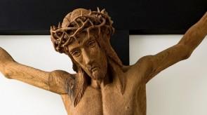 19. Crucifix. Alter in a chapel. Torso.