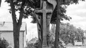 14. Cross for Christening of Samogitians. Oak. h 500.