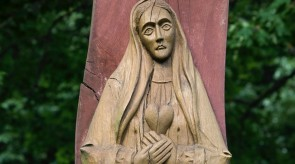 4. Painful. Crucifix. Cross-wayside shrine. Torso.